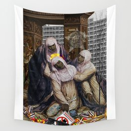 Stigmata & Skittles, Mothers Mourning in the time of BLM (2018, after G. A. Bazzi 1526) Wall Tapestry