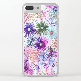 Eden Floral Multi White Clear iPhone Case