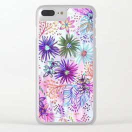 Eden Floral Multi White Clear iPhone Case