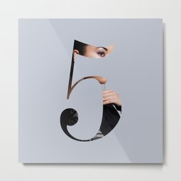 Fluttuo countdown numbers - five Metal Print