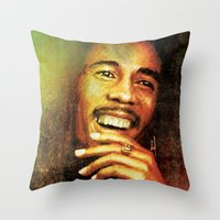 marley Throw Pillows featuring Marley by medal XD
