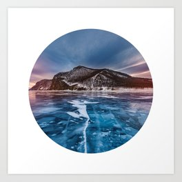 Snow Mountain No1 Art Print
