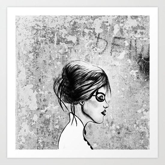 Urban girl. Art Print