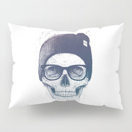 Color skull in a hat Pillow Sham