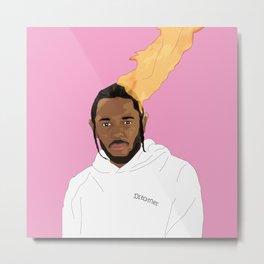 Kendrick Lamar, Pink Metal Print