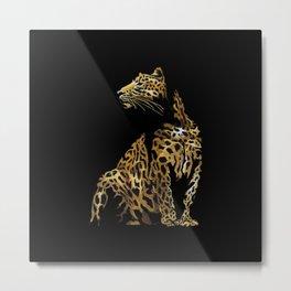 Leopard in the darkness Metal Print