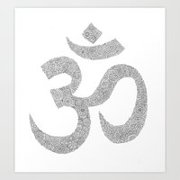 ohm Art Prints featuring OHM by KA Doodle