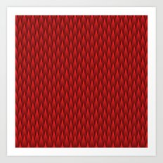Spiky Chevrons, Red/Black Art Print