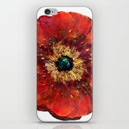 Red Poppy iPhone Skin