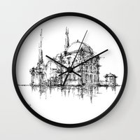 islam Wall Clocks featuring Dolmabahce Mosque by Nikoloz Lekveishvili