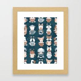 Doggie Coffee and Tea Time II Framed Art Print