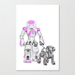 The Dog Walker. (Pink) Canvas Print