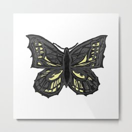 The Beauty in You - Butterfly #1 #drawing #decor #art #society6 Metal Print