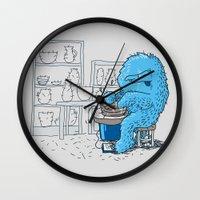 potter Wall Clocks featuring Hairy Potter by awkwardyeti