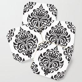 Black and White Damask Coaster