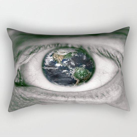 Die Welt mit deinen Augen sehen ! Rectangular Pillow