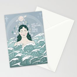 Waves of unconditional love washing over me Stationery Cards