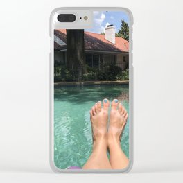 Feet at the Pool Clear iPhone Case