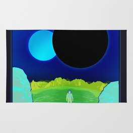 Kepler-16b - NASA Space Travel Poster (Alt) Rug
