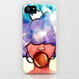 Bubble Gum Afro iPhone Case
