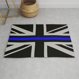 Police: British Flag & The Thin Blue Line Rug