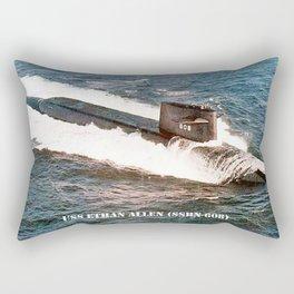 USS ETHAN ALLEN (SSBN-608) Rectangular Pillow