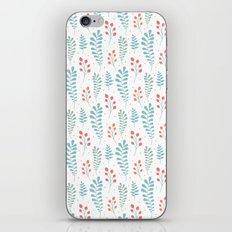 Pastel Floral Leaf Pattern iPhone & iPod Skin