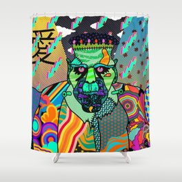 Frank Psychedelic Shower Curtain