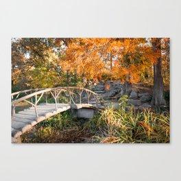 Autumn Light Woodward Park Bridge - Tulsa Oklahoma Canvas Print