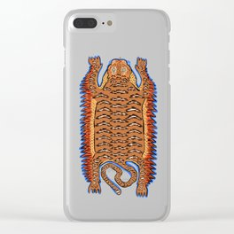 Vintage Sleepy Tiger   White Clear iPhone Case