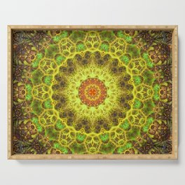 Dimensional Transition Mandala Serving Tray