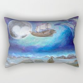 A trip to Pluto Rectangular Pillow