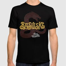 Basilisks MEDIUM Black Mens Fitted Tee