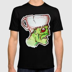 coffee zombie notext 2X-LARGE Black Mens Fitted Tee