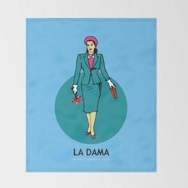 La Dama Mexican Loteria Throw Blanket