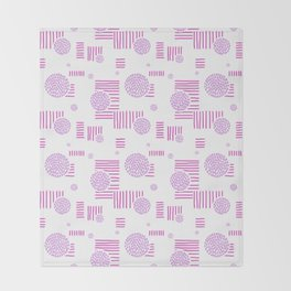 Imperfection in Pink Throw Blanket