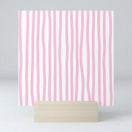 Pink Stripes Mini Art Print