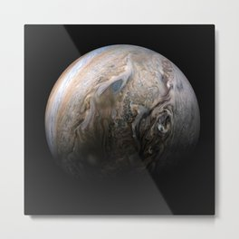 Jupiter's stormy Northern hemisphere Metal Print