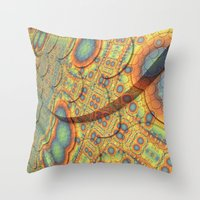 scales Throw Pillows featuring Scales by Lyle Hatch