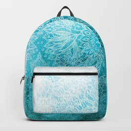 Fade to Teal - watercolor + doodle Backpack