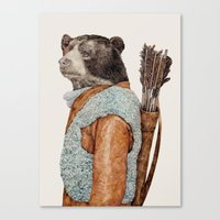 hunter Canvas Prints featuring HUNTER by Animal Crew