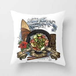 Everyone Gets Lei'd Throw Pillow