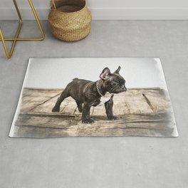 French bulldog puppy Rug