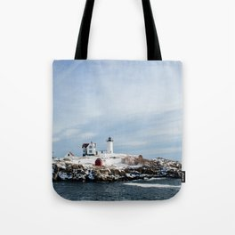 Nubble Lighthouse Maine Tote Bag