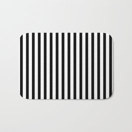 Black & White Small Vertical Stripes- Mix & Match with Simplicity of Life Bath Mat