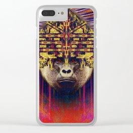 Spirit animal- The gorilla Clear iPhone Case