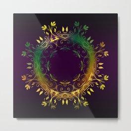 Fantasy Circle (Purple) Metal Print