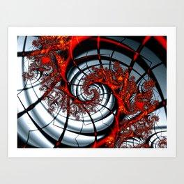 Fractal Art - Burning Web Art Print