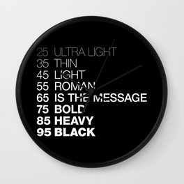 The Medium Is The Message Wall Clock