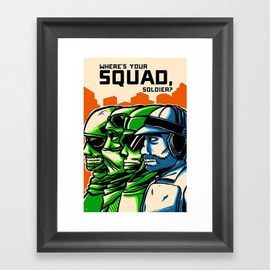 Where's Your Squad? Framed Art Print